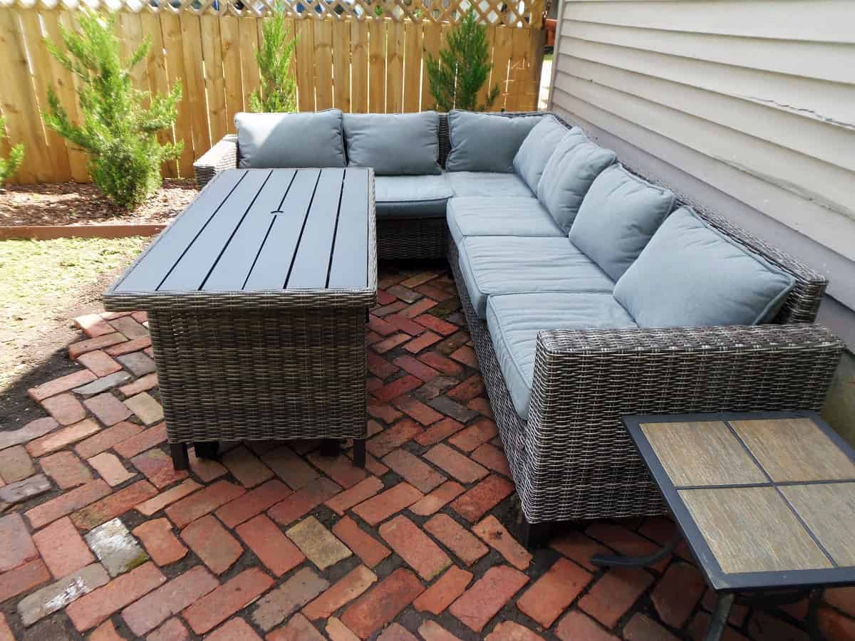 Brick Patio With Outdoor Sectional
