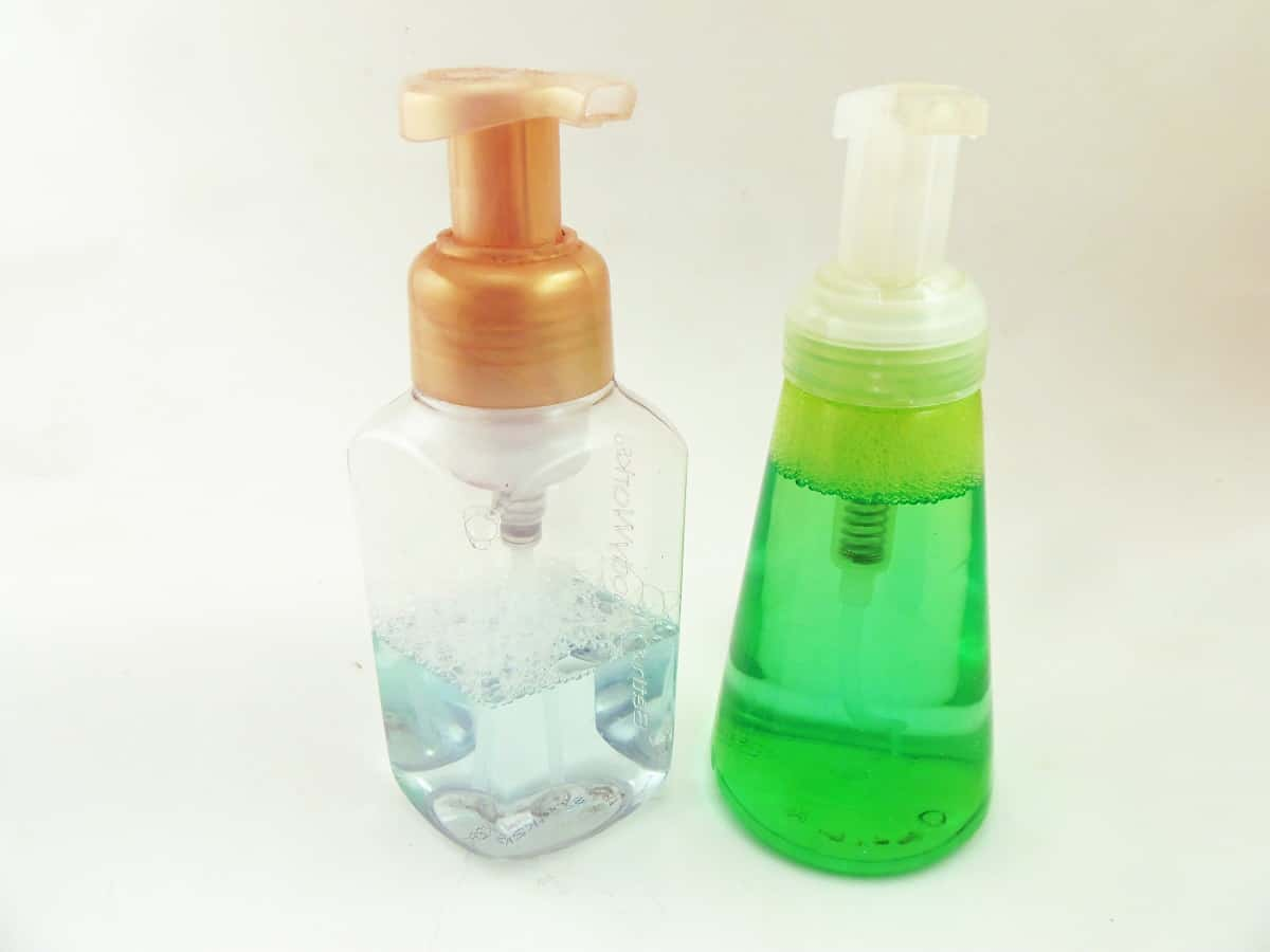 Foaming Hand Soap Dispensers With Labels Removed