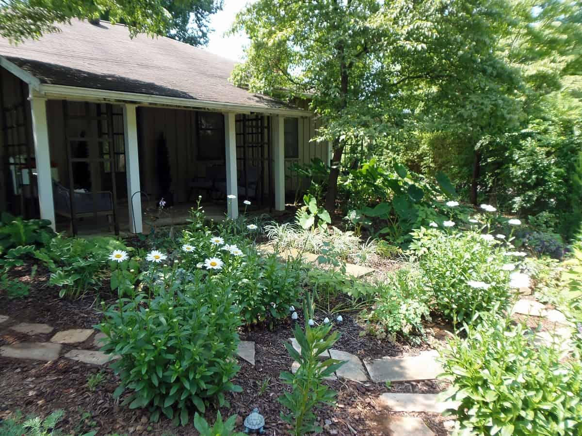Garden Looking Towards Porch
