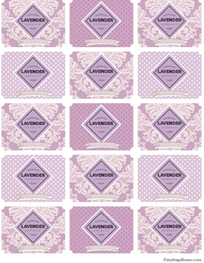Printable Lavender Extract Labels