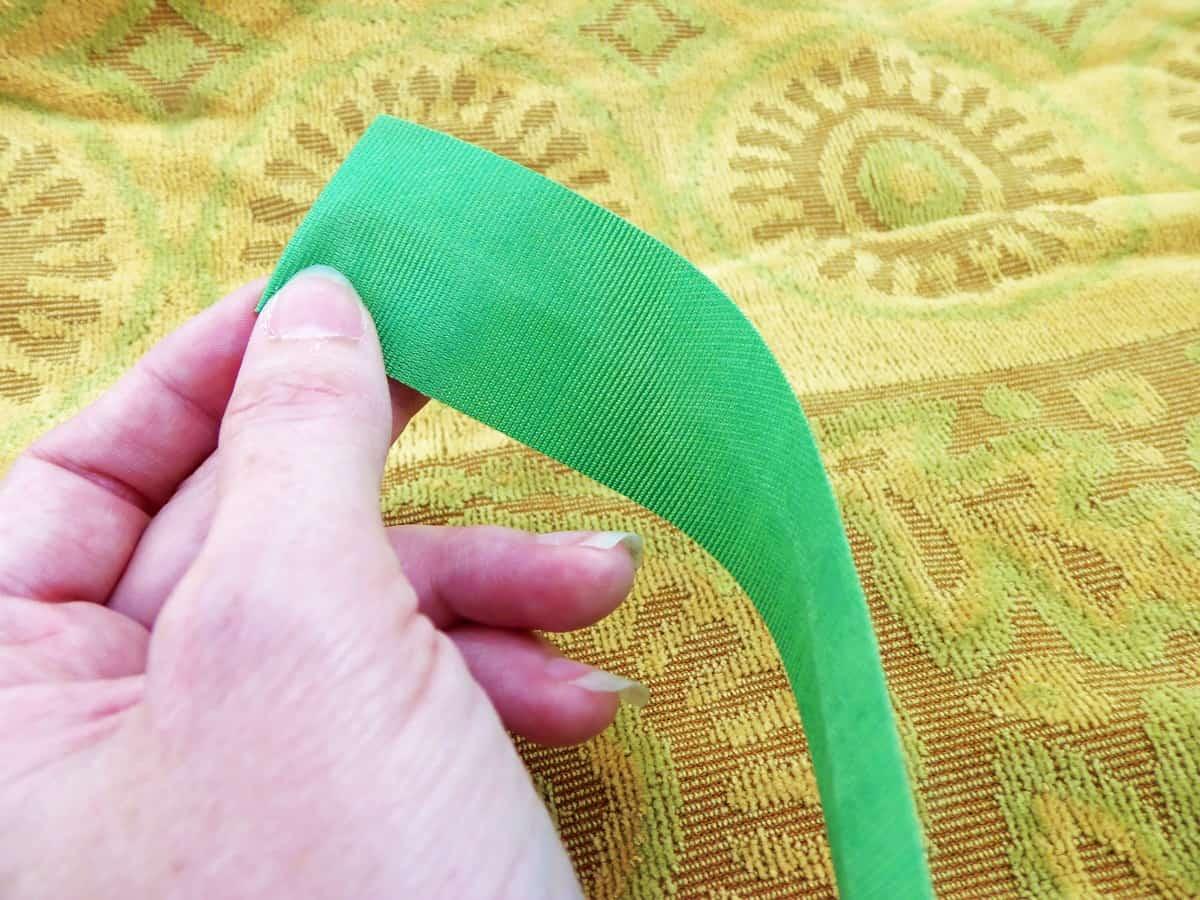 Fold Under Edge of Ribbon