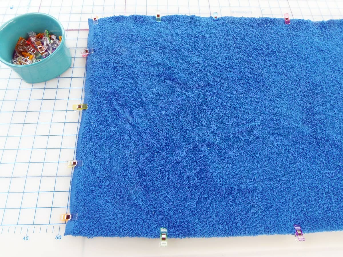 Clip Layers of Bath Mat Together