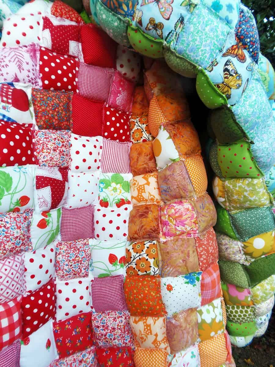 Closeup of Pillow Quilt Squares
