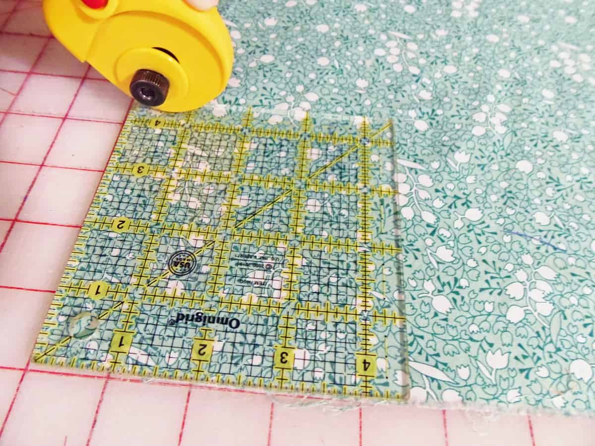 Cut Out Squares Using a Quilting Square