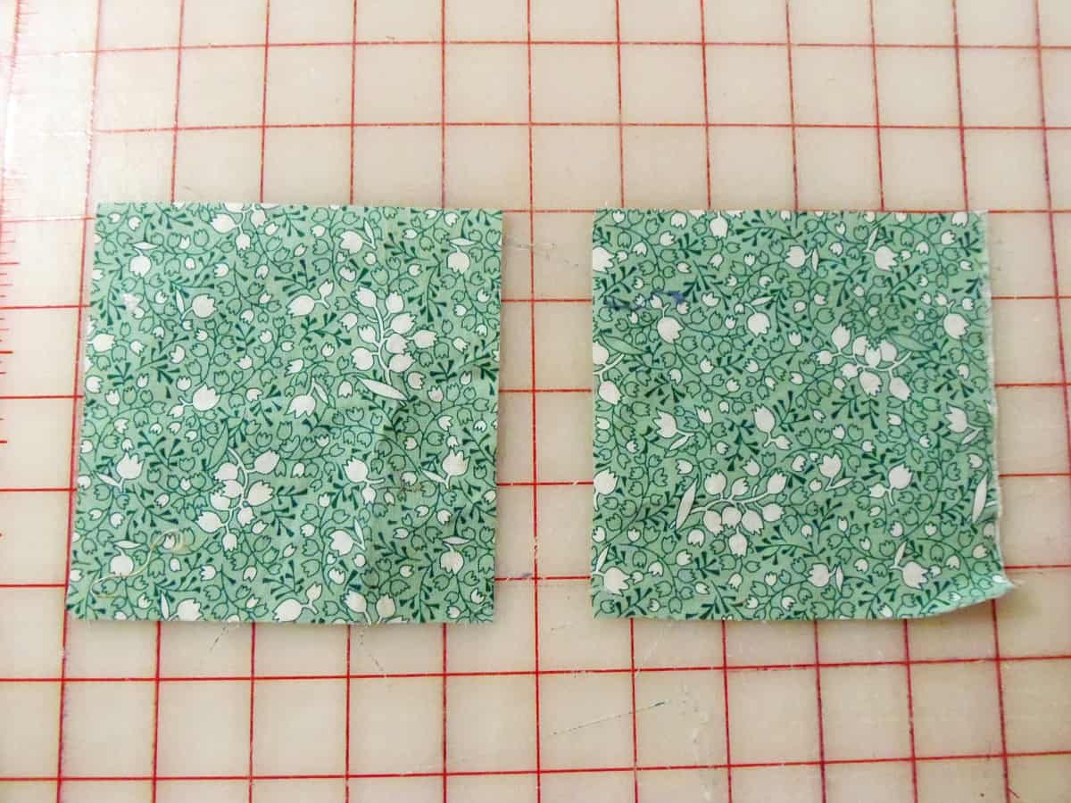 Cut Out Two Squares for Each Pillow