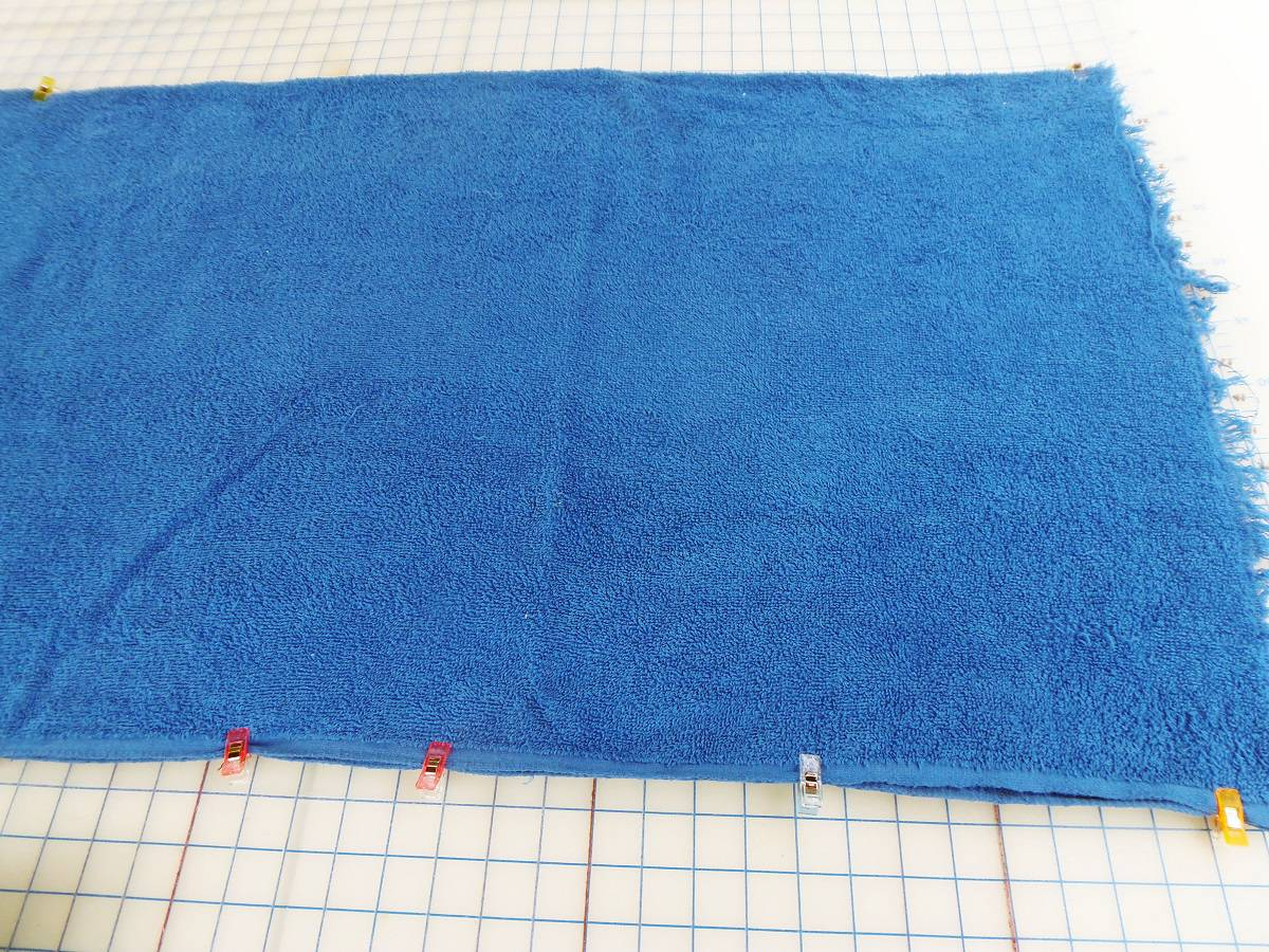 Fold Terry Cloth in Half on Short Side