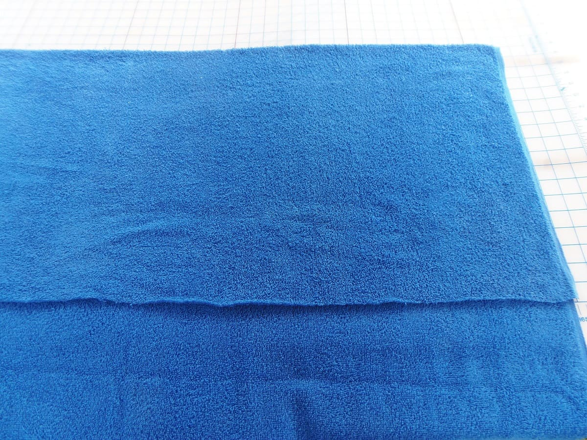 Fold Terry Cloth in Thirds