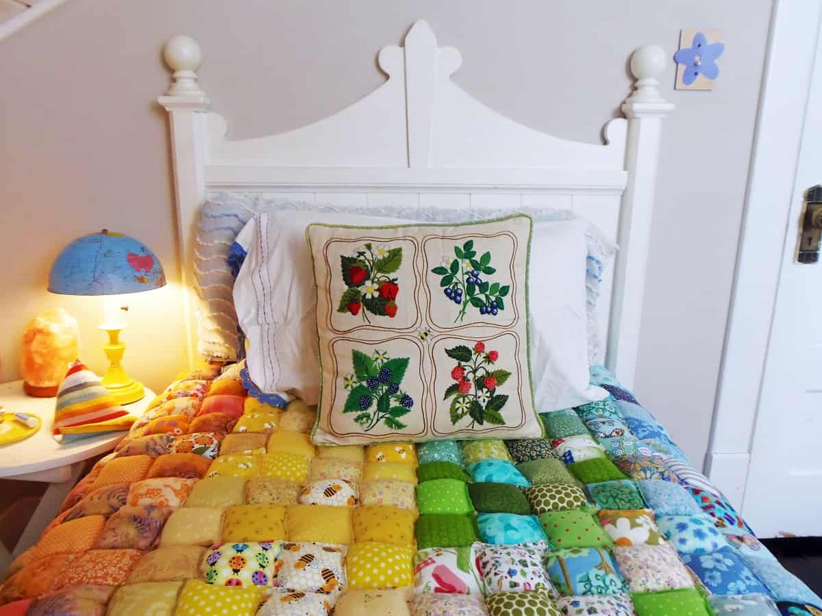 Pillow Quilt on Bed