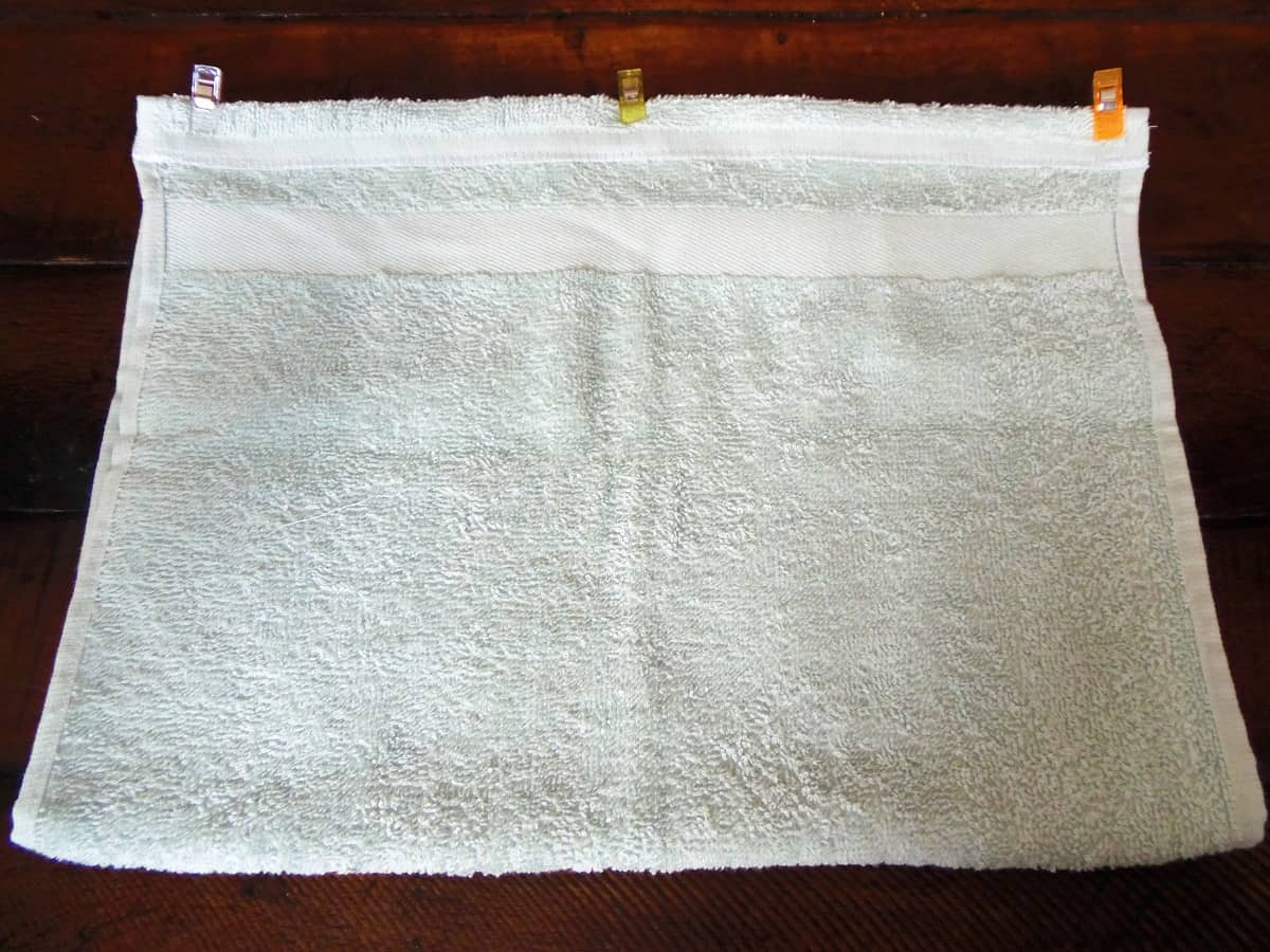 Fold the Hand Towel in Half