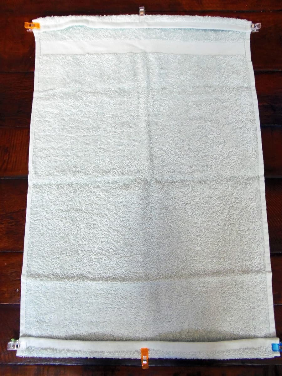 Fold the Top and Bottom of the Hand Towel Down One Inch
