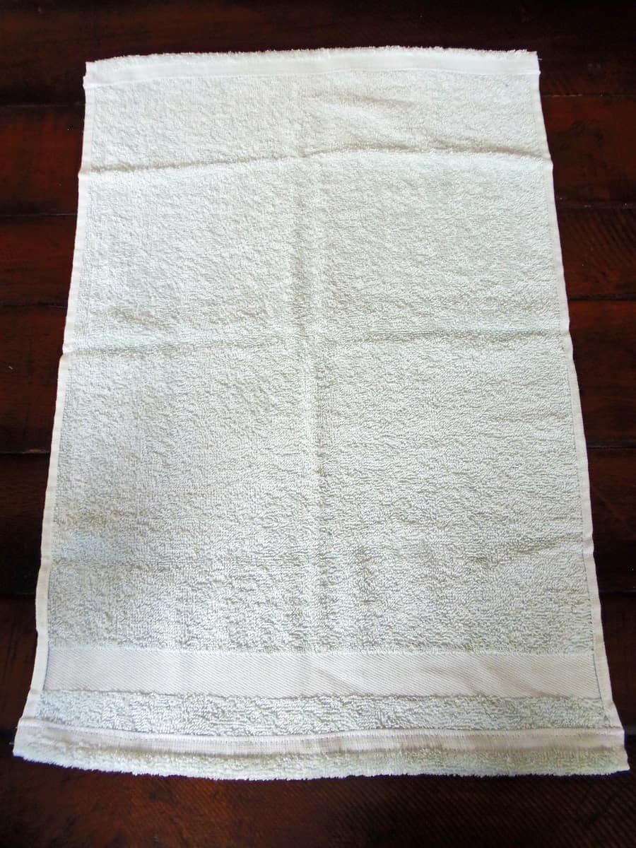 Lay the Hand Towel Out Good Side Down