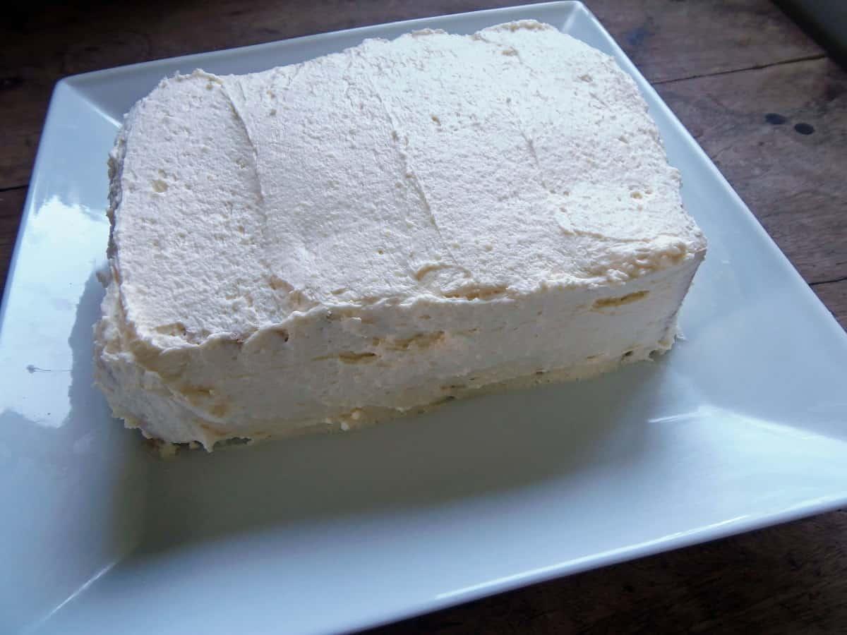Ice the Banana Pudding Icebox Cake